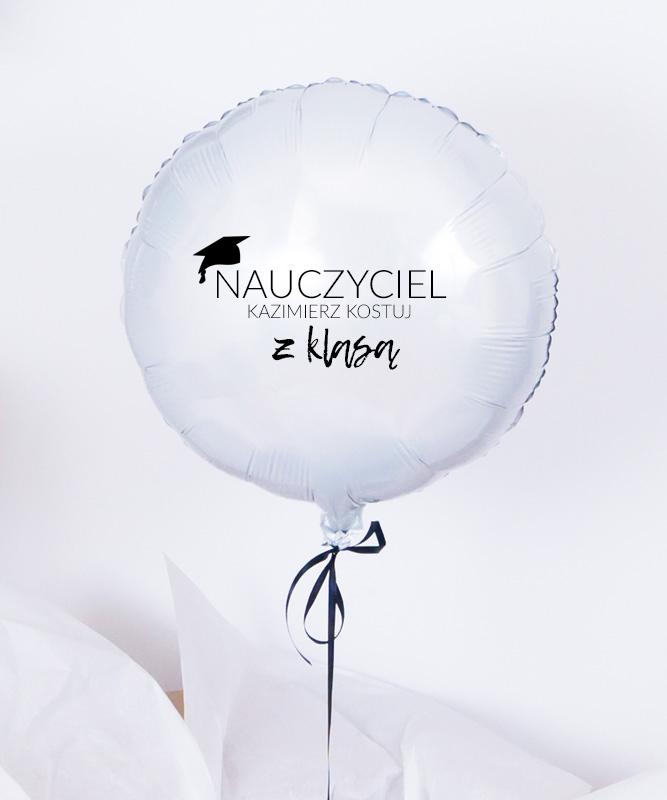 Balon z helem na prezent – Nauczyciel z klasą