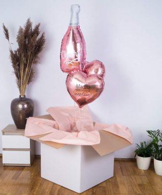 Balonowy prezent w pudełku