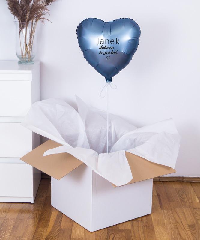 Balon z helem serce – Dobrze, że jesteś