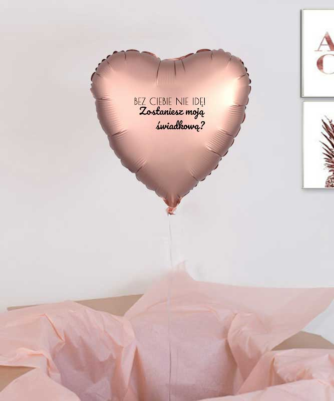 Balon z helem, prośba o świadkowanie – Bez Ciebie Nie Idę