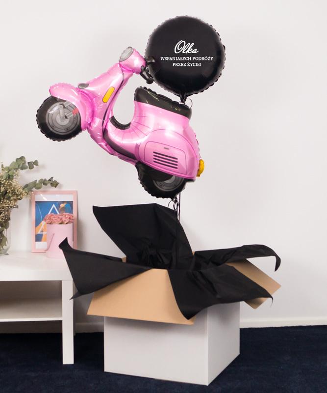 Balonowy zestaw w pudełku – Wspaniałych Podróży