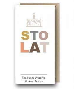 Kartka urodzinowa - STO LAT