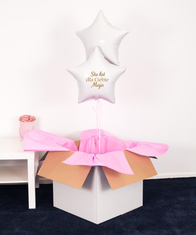 Balony z helem gwiazdki na urodziny – 100 lat dla Ciebie