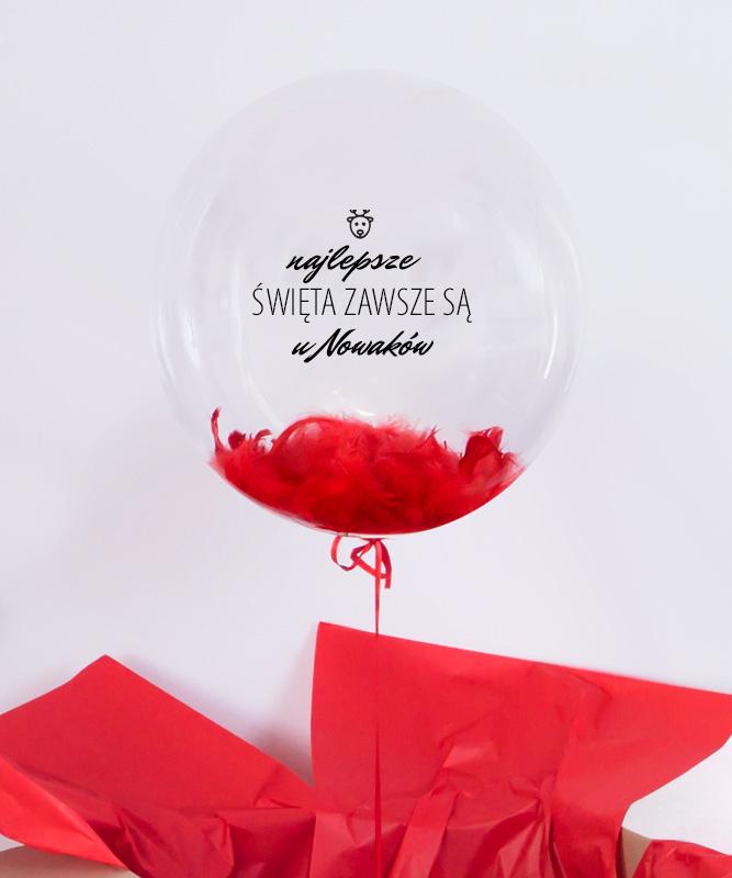 Balon duża kula z helem na prezent – Najlepsze Święta