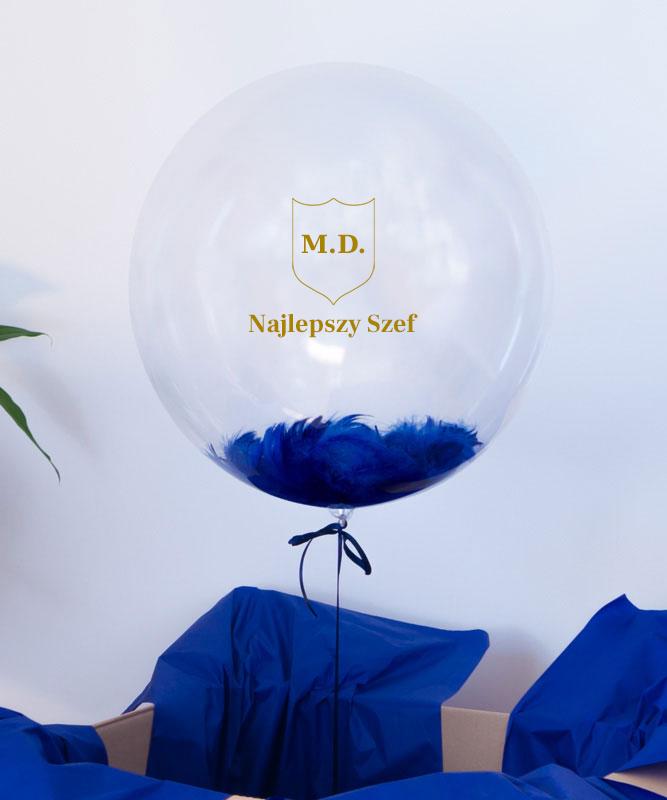 Balon z helem na prezent dla Szefa