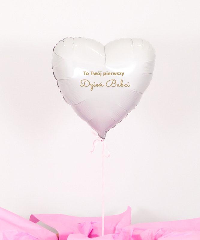 Balon z helem w pudełku – Pierwszy Dzień Babci
