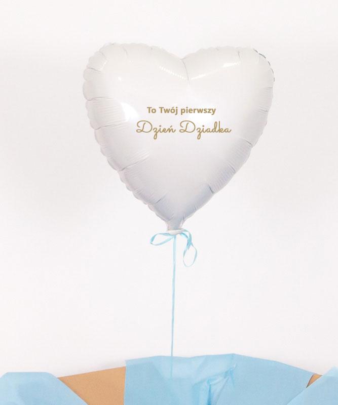 Balon z helem w pudełku – Pierwszy Dzień Dziadka