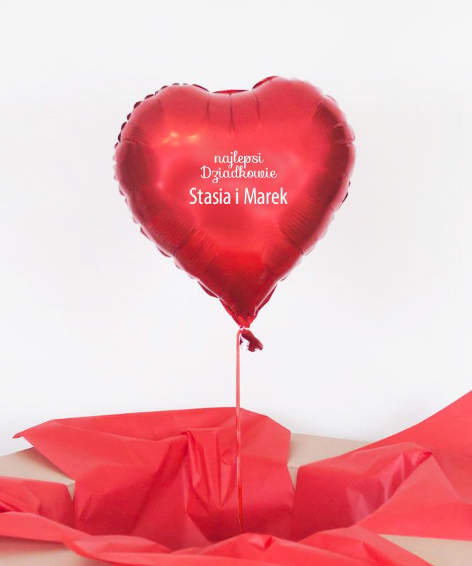 Prezent na dzień Babci i Dziadka – Balon serce z helem w pudełku