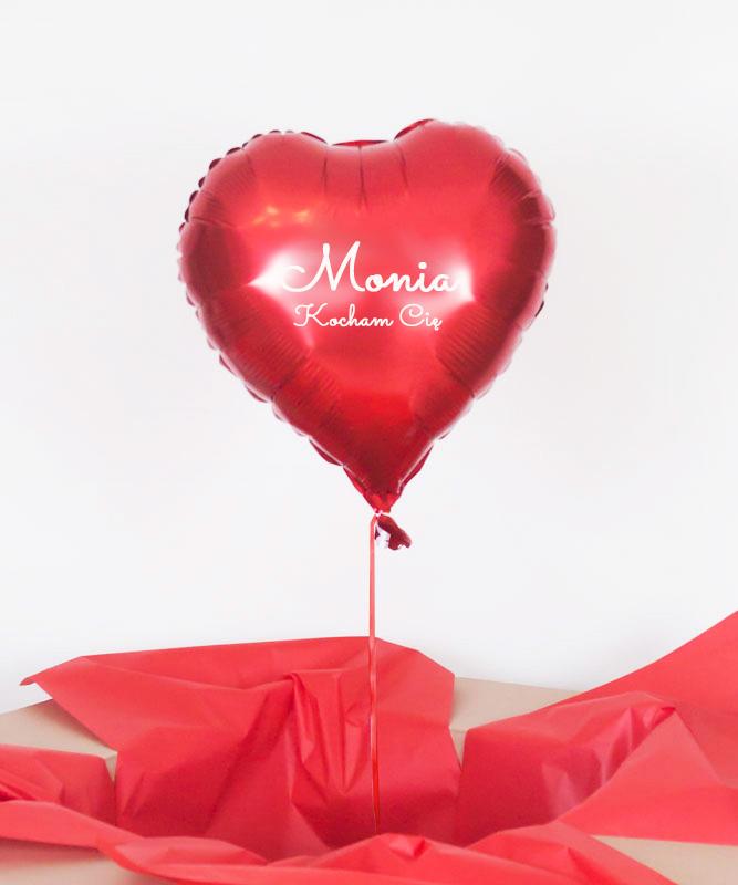 Balon serce czerwone z helem – Kocham Cię