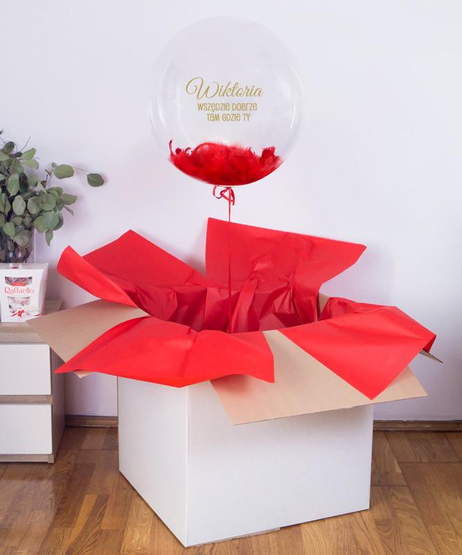 Personalizowany balon kula z helem w pudełku – Dobrze, tam gdzie Ty