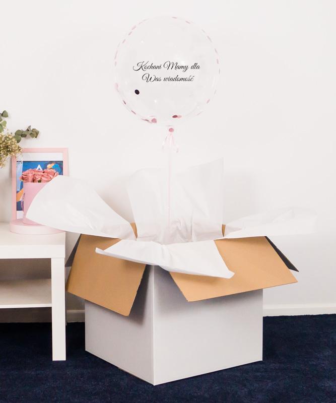 Balon kula z helem + Zdrapka zostaniecie dziadkami