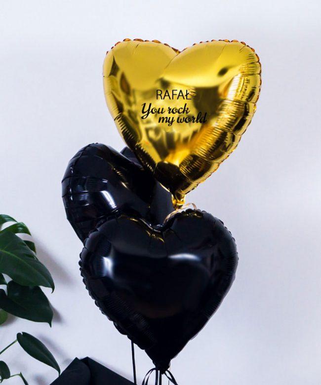 balony z helem w pudełku