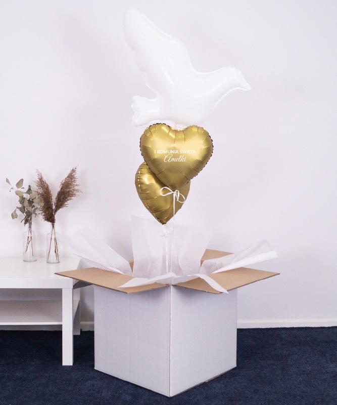 Prezent na chrzest święty – balony z helem w pudełku