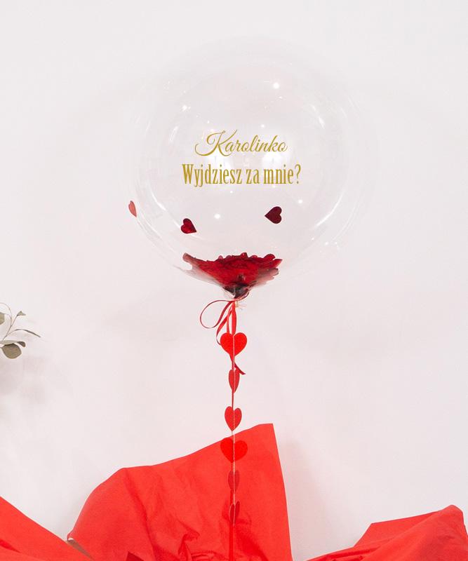 Balon kula z helem – Wyjdziesz za mnie