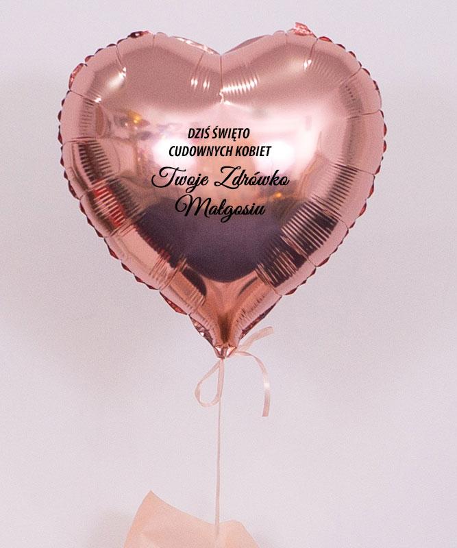 Balon serce z helem w pudełku na prezent – Dzień Kobiet