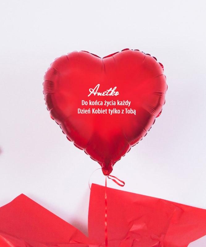Balon z helem czerwone serce – Dzień Kobiet Tylko Z Tobą