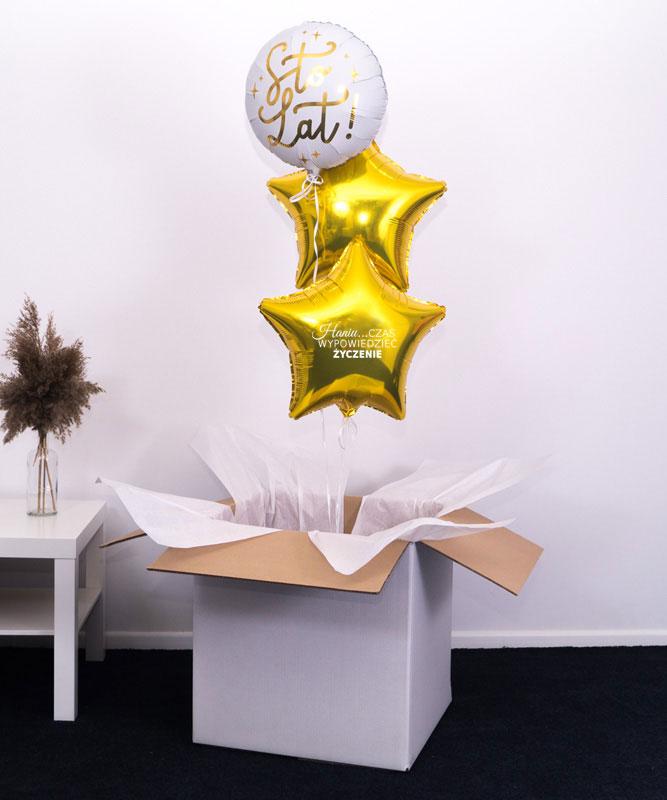Trio balonowe w pudełku na prezent – Wypowiedz życzenie