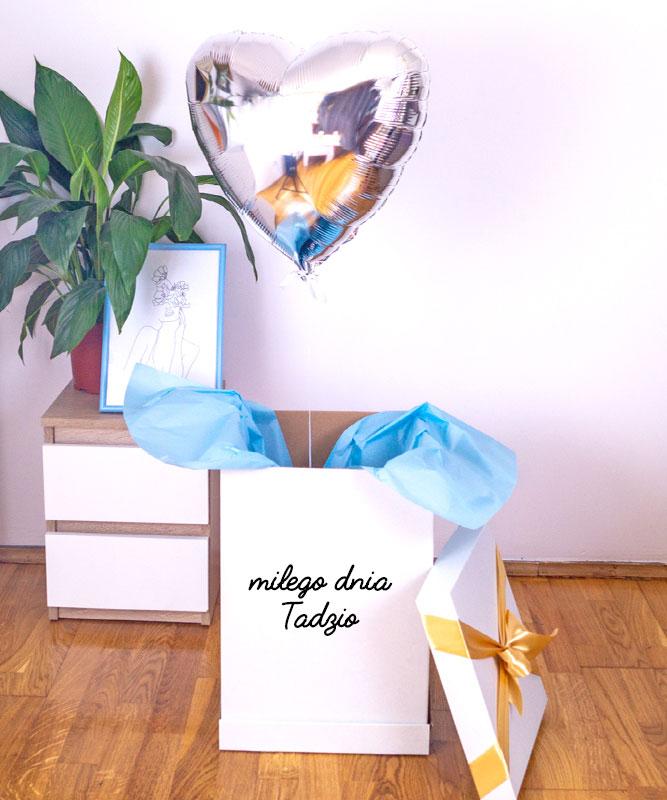 Balon serce z helem w eleganckim pudełku – Miłego Dnia