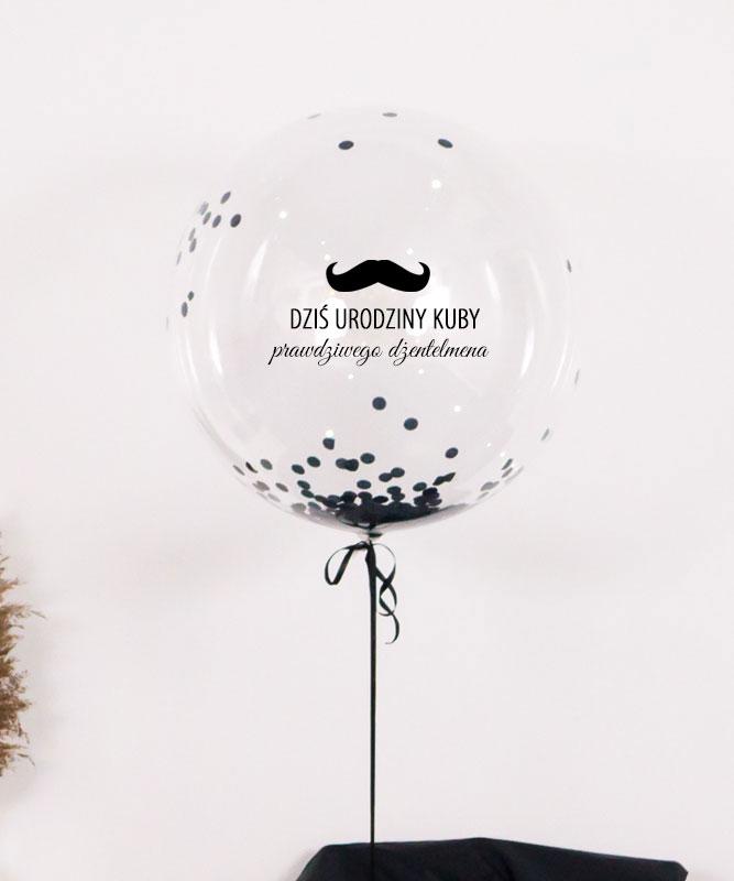 Balon kula z helem w pudełku z napisem – Prezent dla dżentelmena