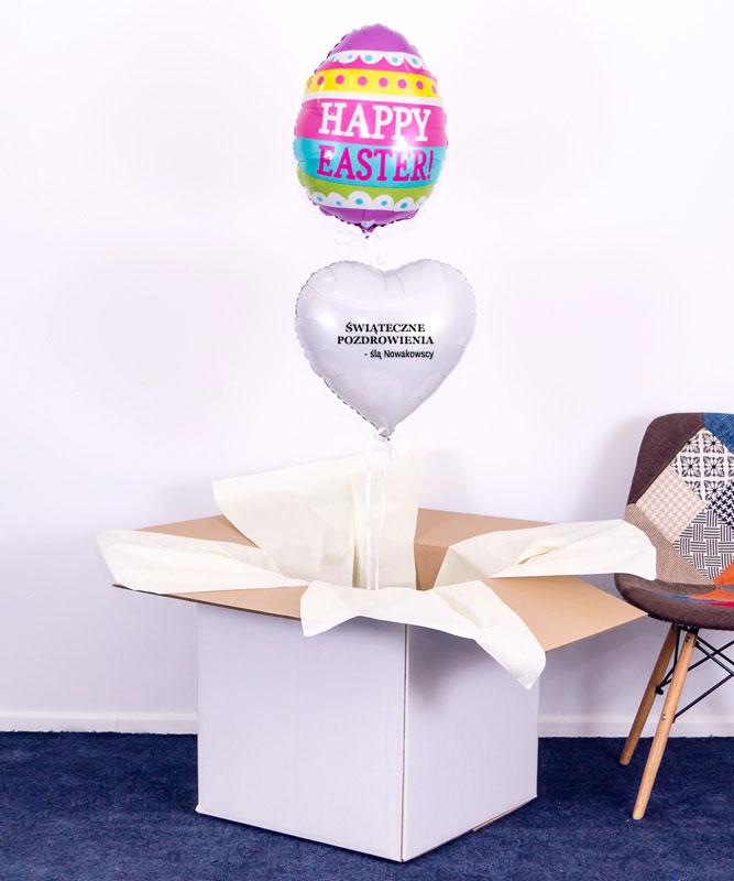 Balony z helem w pudełku na Wielkanoc – Pisanka
