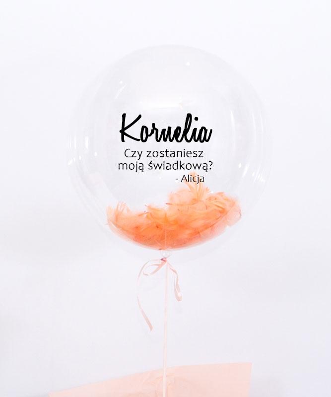 balon z helem dla świadkowej