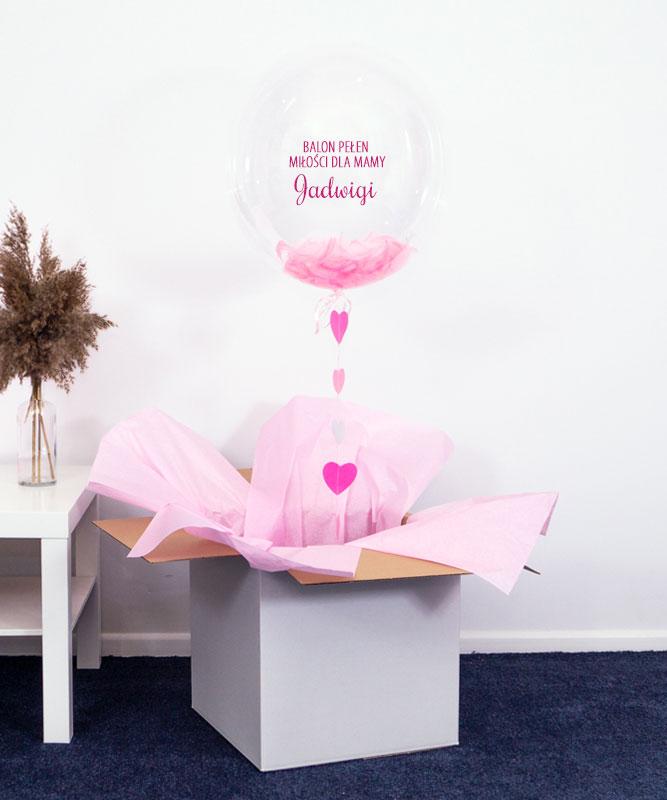 Balon kula z helem w pudełku dla Mamy – Prezent pełen miłości