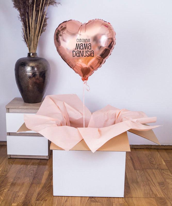 Balon z helem w pudełku – Cudowna Mama