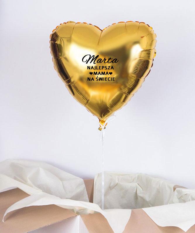 Balonik z helem w pudełku dla Mamy – Najlepsza na Świecie