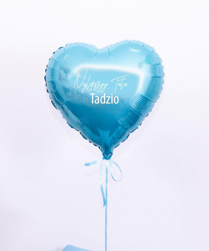 Balon z helem serduszko – Najlepszy Tata