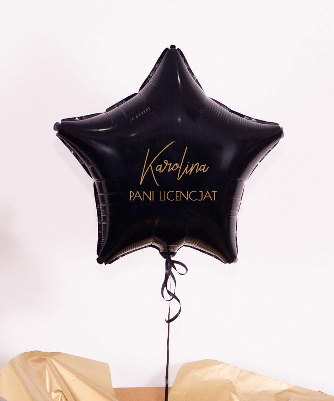 Prezent dla licencjata – balon gwiazdka z helem