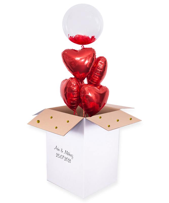 Bukiet balonowy z helem – Niespodzianka dla pary