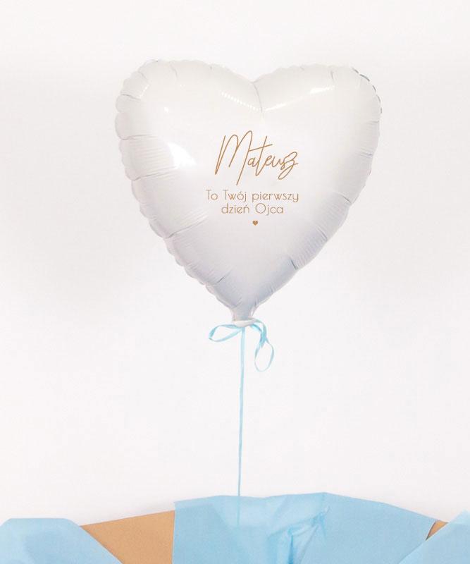 Prezent na pierwszy dzień Taty – balon serce z helem