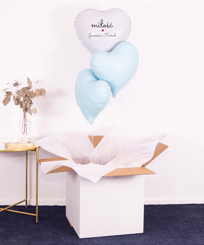 balony z helem serduszka