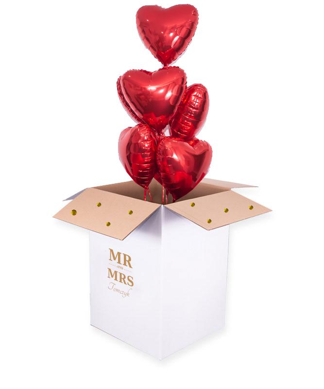 pudło balonowe na ślub