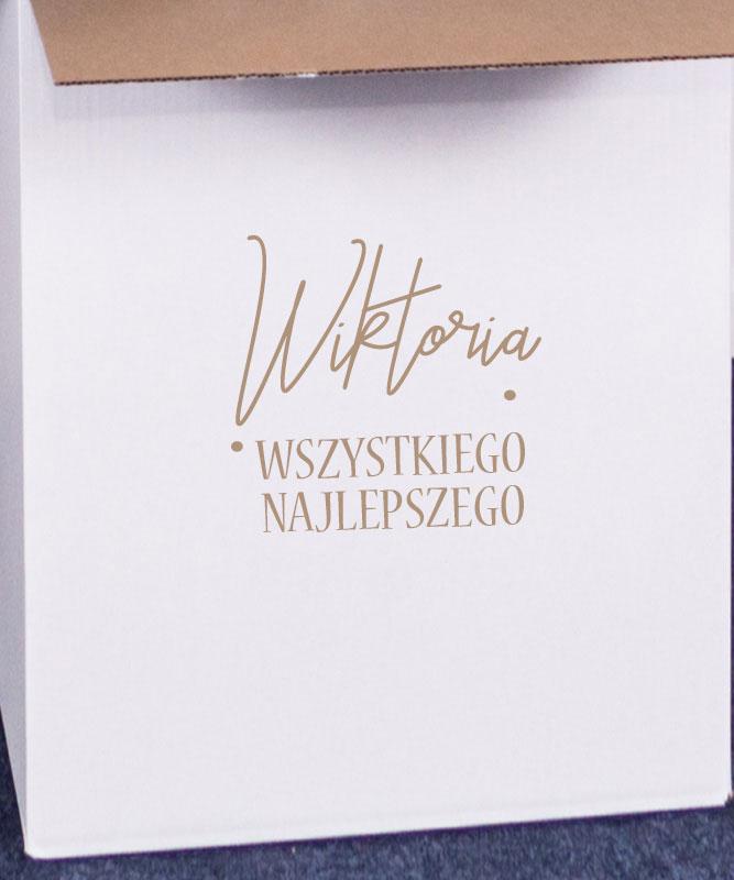 Balony z helem na osiemnastkę w pudełku – liczba 18 różowe złoto