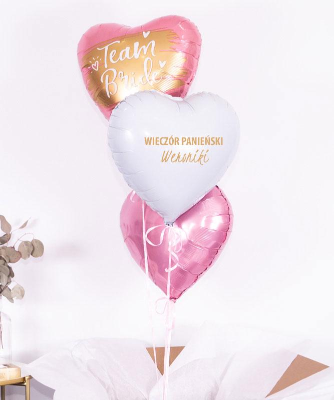 Trio balonowe na dla przyszłej Pani Młodej – Bride Team