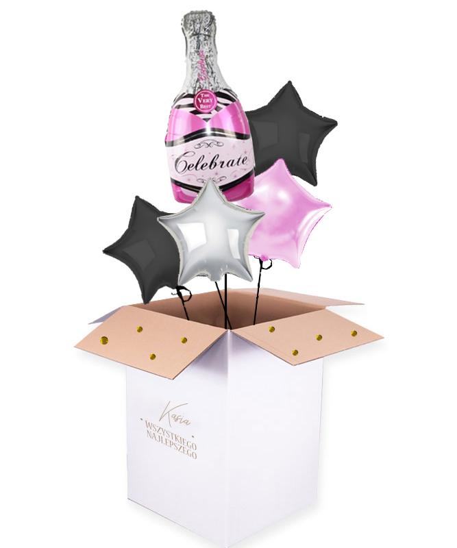 Balony z helem w pude艂ku – Celebrate