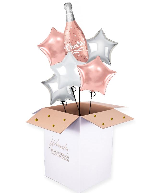 bukiet balonów z helem na urodziny