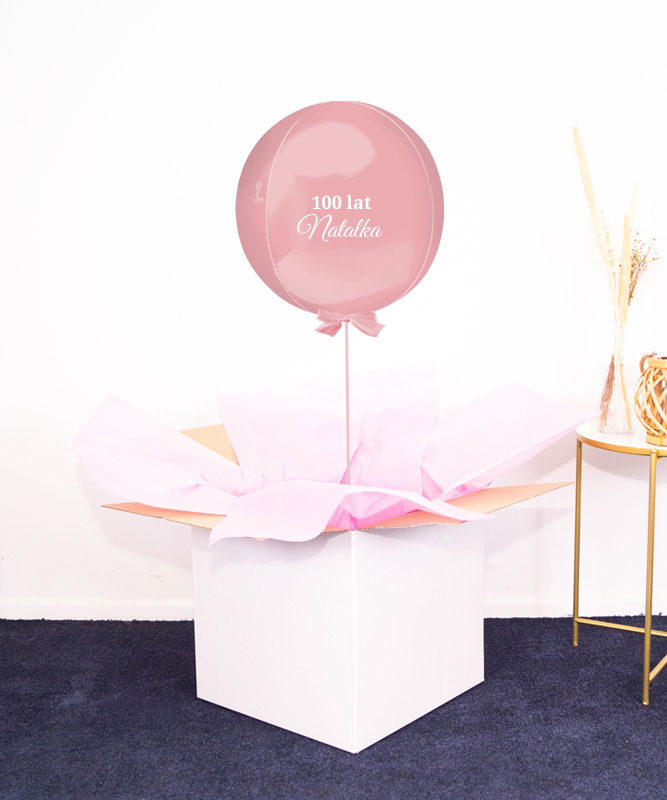 Prezent niespodzianka na urodziny – różowy balon kula z helem