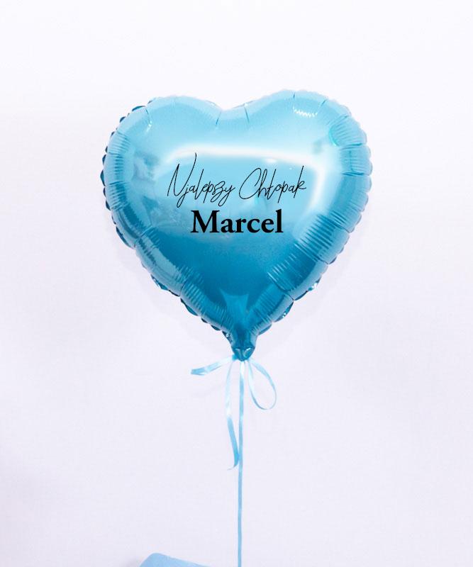 Nowoczesny prezent dla chłopaka – balon niebieskie serce z helem