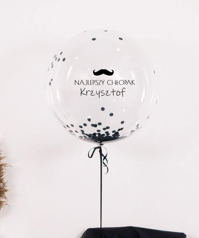 Balon z helem – kula z konfetti dla najlepszego chłopaka