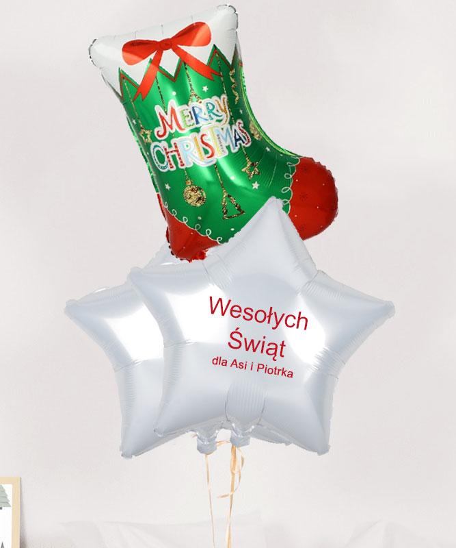 Świąteczny prezent dla Rodziny – balony z helem w pudełku