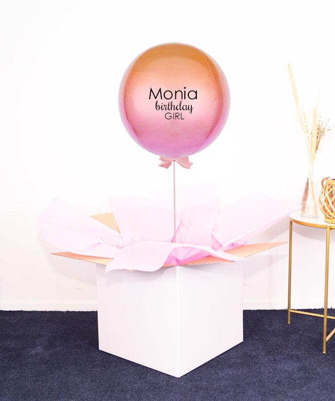 balon z helem na urodziny