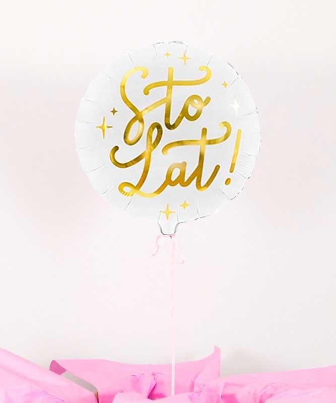Balon foliowy z helem sto lat – urodzinowa niespodzianka