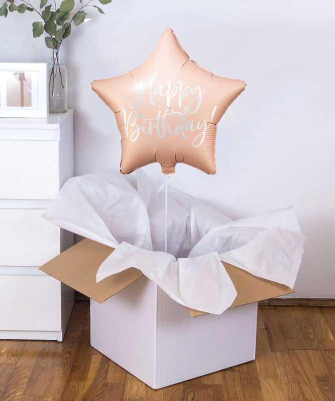 Balon gwiazdka Happy Birthday – prezent niespodzianka