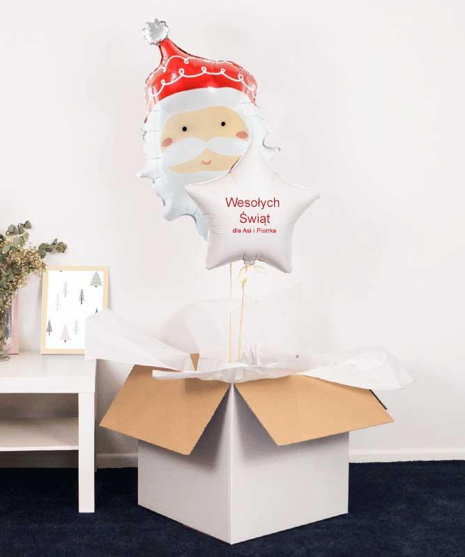 Prezent na Święta – balony z helem w pudełku